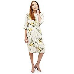 Phase Eight - Cream sandrine floral wrap tie dress