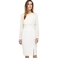 Phase Eight - Cream victoria dress with sleeves
