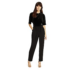Phase Eight - Black 'Neha' velvet jumpsuit