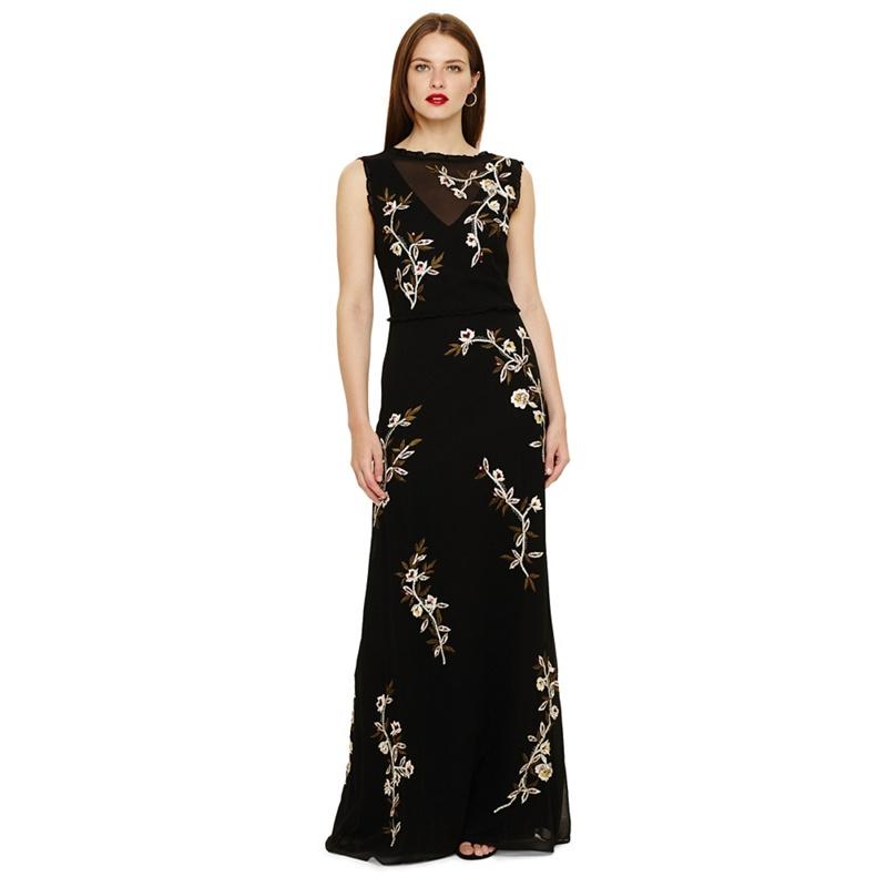 a58a03226e1 Phase Eight Black Abigail Floral Maxi Dress