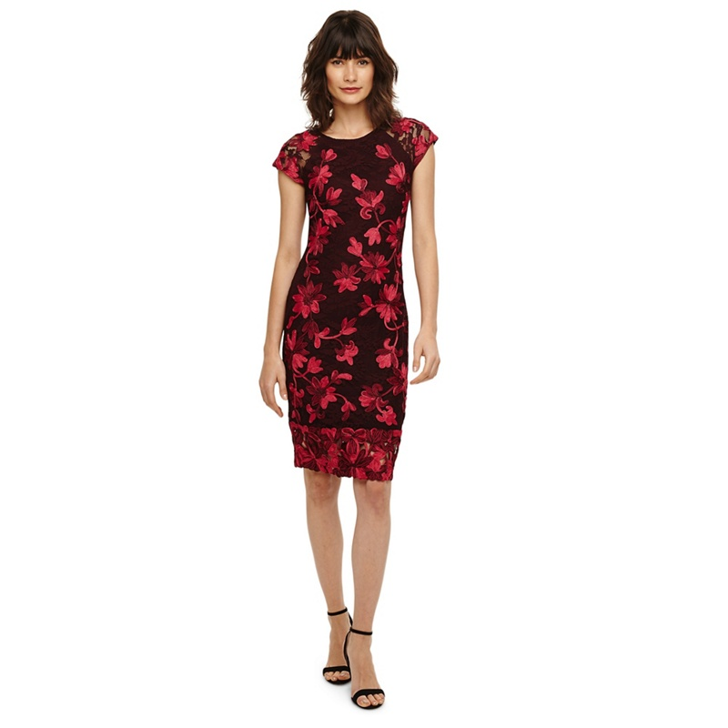 b5488421fa9 Phase Eight - Claret Chrissy Tapework Dress
