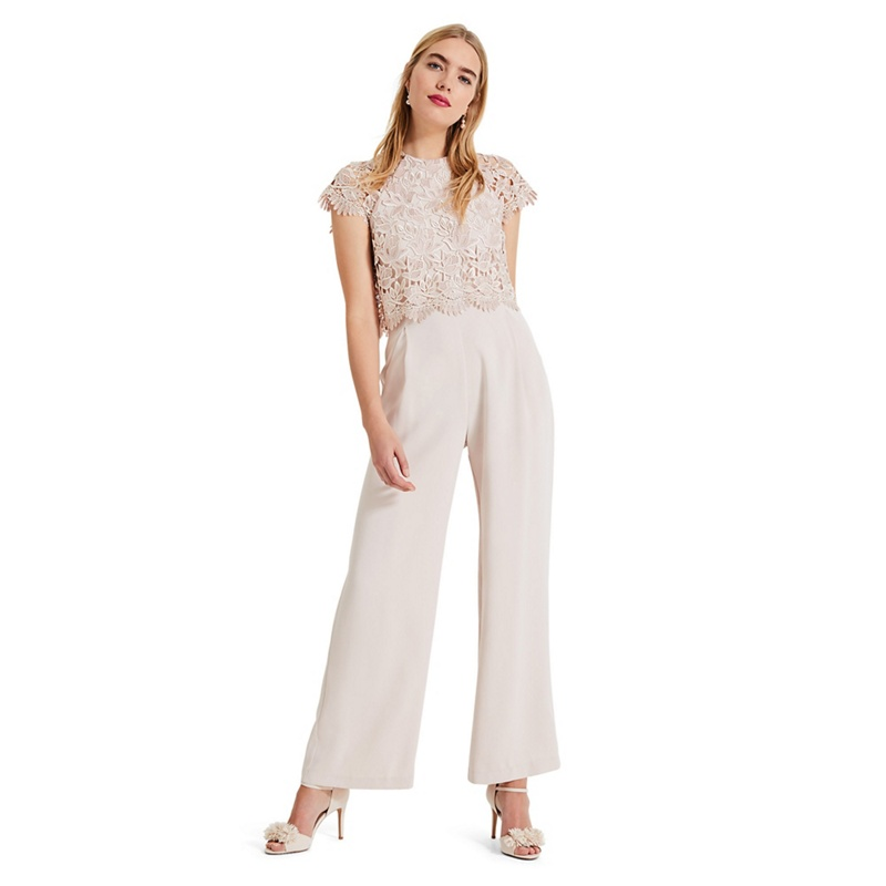 d3a1b85d5fc Phase Eight - Cream Katy Lace Jumpsuit