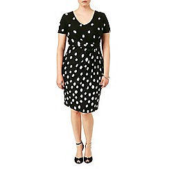 Studio 8 - Sizes 16-24 Black ruth spot dress