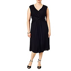 Studio 8 - Sizes 16-24 Black marnie knot dress