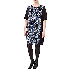 Studio 8 - Sizes 16-24 Blue and Black zamira photographic floral tunic
