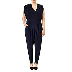 Studio 8 - Sizes 16-24 Navy zena jumpsuit