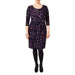 Studio 8 - Sizes 16-24 Purple julie grid dress