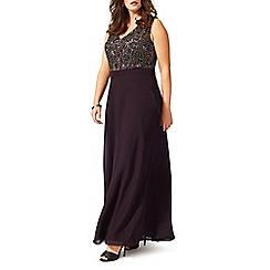 Studio 8 - Sizes 16-24 Purple nadia dress