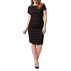 Studio 8 - Sizes 16-24 Black and Red taylor check dress