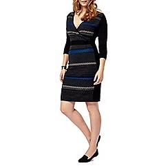 Studio 8 - Sizes 16-24 Multi-coloured natalie knit dress