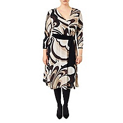 Studio 8 - Sizes 16-24 Brown zoe swirls dress