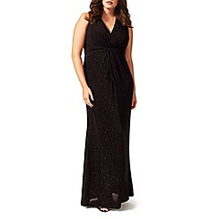 Studio 8 - Sizes 16-24 Black gayle glitter maxi dress