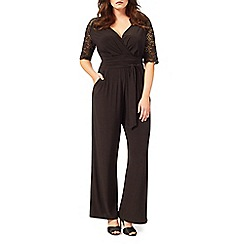 Studio 8 - Sizes 16-24 Black helen jumpsuit