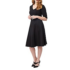 Studio 8 - Sizes 16-24 Black minetta dress