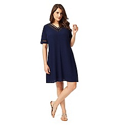Studio 8 - Sizes 12-26 Navy saffiya dress