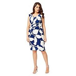 Studio 8 - Sizes 12-26 Blue and Ivory geneva dress