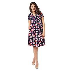 Studio 8 - Sizes 12-26 Multi-coloured otto dress