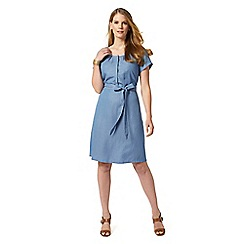 Studio 8 - Sizes 12-26 Blue sylvia dress