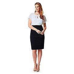 Studio 8 - Sizes 12-26 Ivory and Black amelie dress