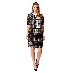 Studio 8 - Sizes 12-26 Stone and Black cherie dress