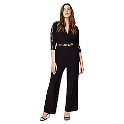 Studio 8 - Sizes 12-26 Black ember jumpsuit