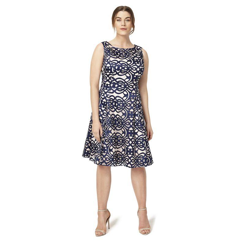 Plus Size Studio 8 Sizes 12-26 Navy Raquel Dress, Womens,