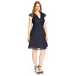 Studio 8 - Sizes 12-26 Navy eliza dress