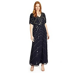 Studio 8 - Sizes 12-26 Navy bethany maxi dress