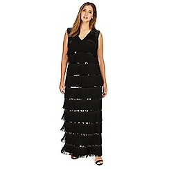 Studio 8 - Sizes 12-26 Black estrella full length dress