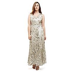 Studio 8 - Sizes 12 -26 Silver venus maxi dress
