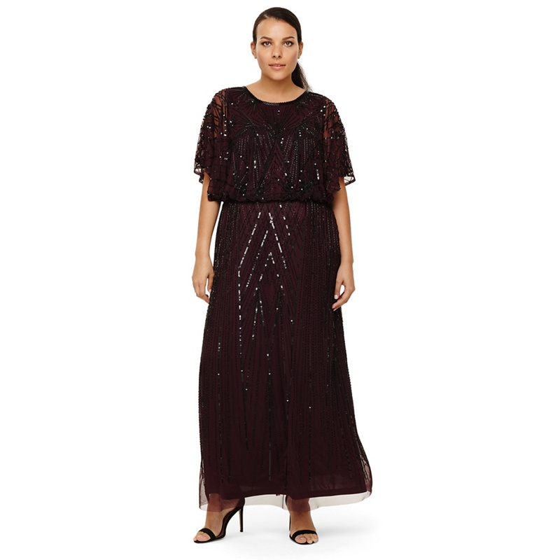 945a17ef878 Studio 8 - Sizes 14-26 Phaedra Beaded Maxi Dress