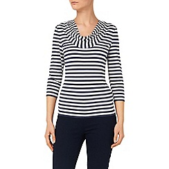 Phase Eight - Navy And Ivory Carrie Stripe Top