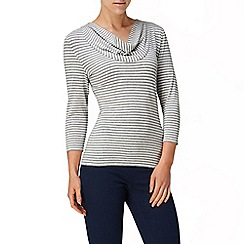 Phase Eight - Grey and Ivory carrie stripe top