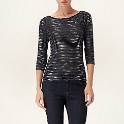 Phase Eight - Blue Tweedy Stripe Top
