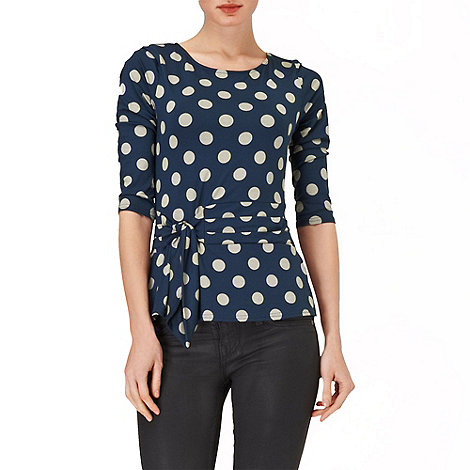 Phase Eight - Grey and Navy philly spot top