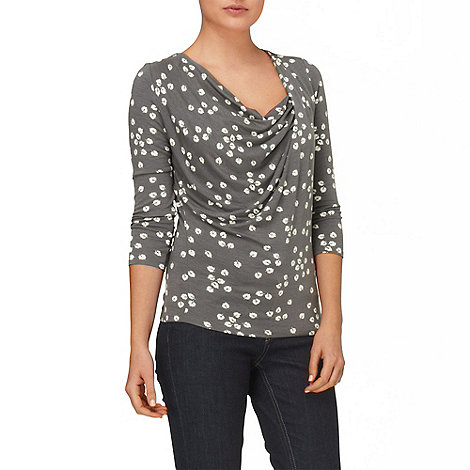 Phase Eight - Grey and Ivory fig leaf top