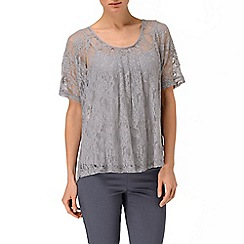 Phase Eight - Silver verity lace top