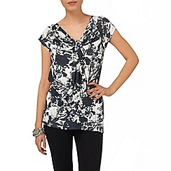 Phase Eight - Charcoal and Ivory lyon print top