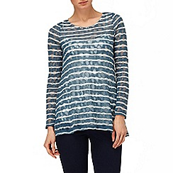 Phase Eight - Airforce pointelle stripe joplin top