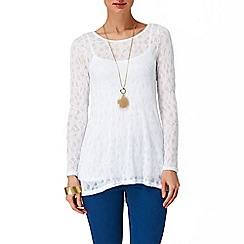 Phase Eight - White plain pointelle joplin top