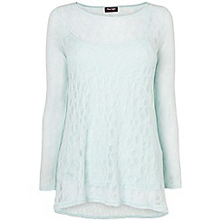 Phase Eight - Mineral Blue plain pointelle joplin top