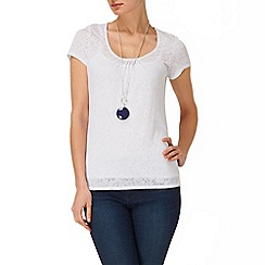 Phase Eight - White becky burnout top