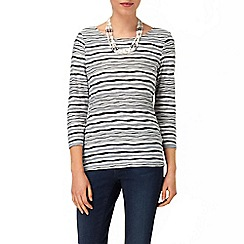 Phase Eight - Grey Marl trinity stripe top