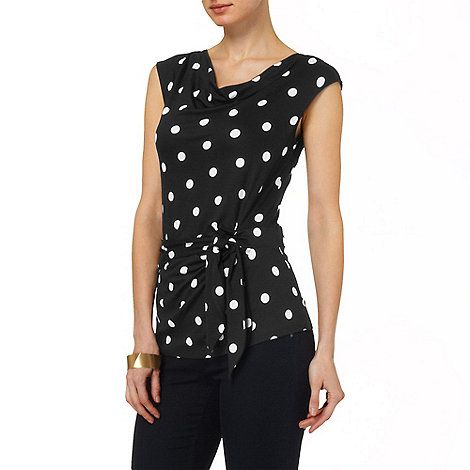 Phase Eight - Black and Ivory debbie spot top