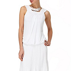 Phase Eight - White gem sleeveless gypsy top