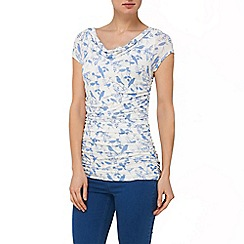 Phase Eight - Ivory and Blue beau bird print tallie top