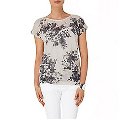 Phase Eight - Charcoal and Ivory lisa floral top