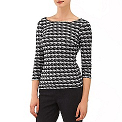 Phase Eight - Black and Grey textured zig zag top