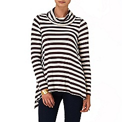 Phase Eight - Port and Marl nora stripe top