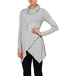 Phase Eight - Grey Marl tara roll neck top